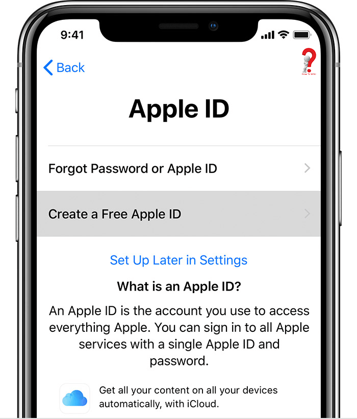 Create Apple Id On iPhone