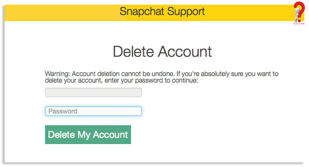 Delete Snapchat Account iPhone