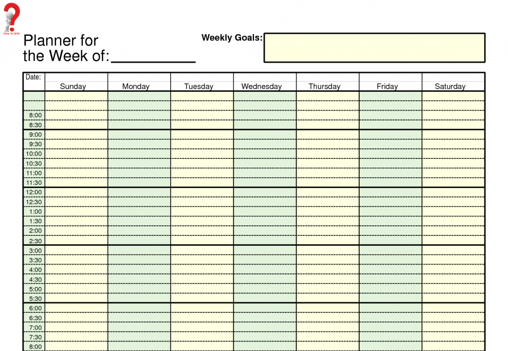 Printable Work Schedule Planner