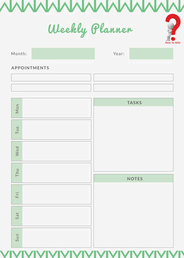 5+ Free Printable Weekly Planner Template
