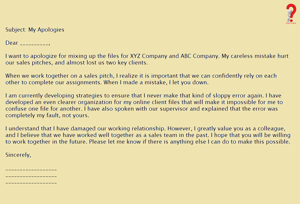 Letter To Boss For Poor Performance