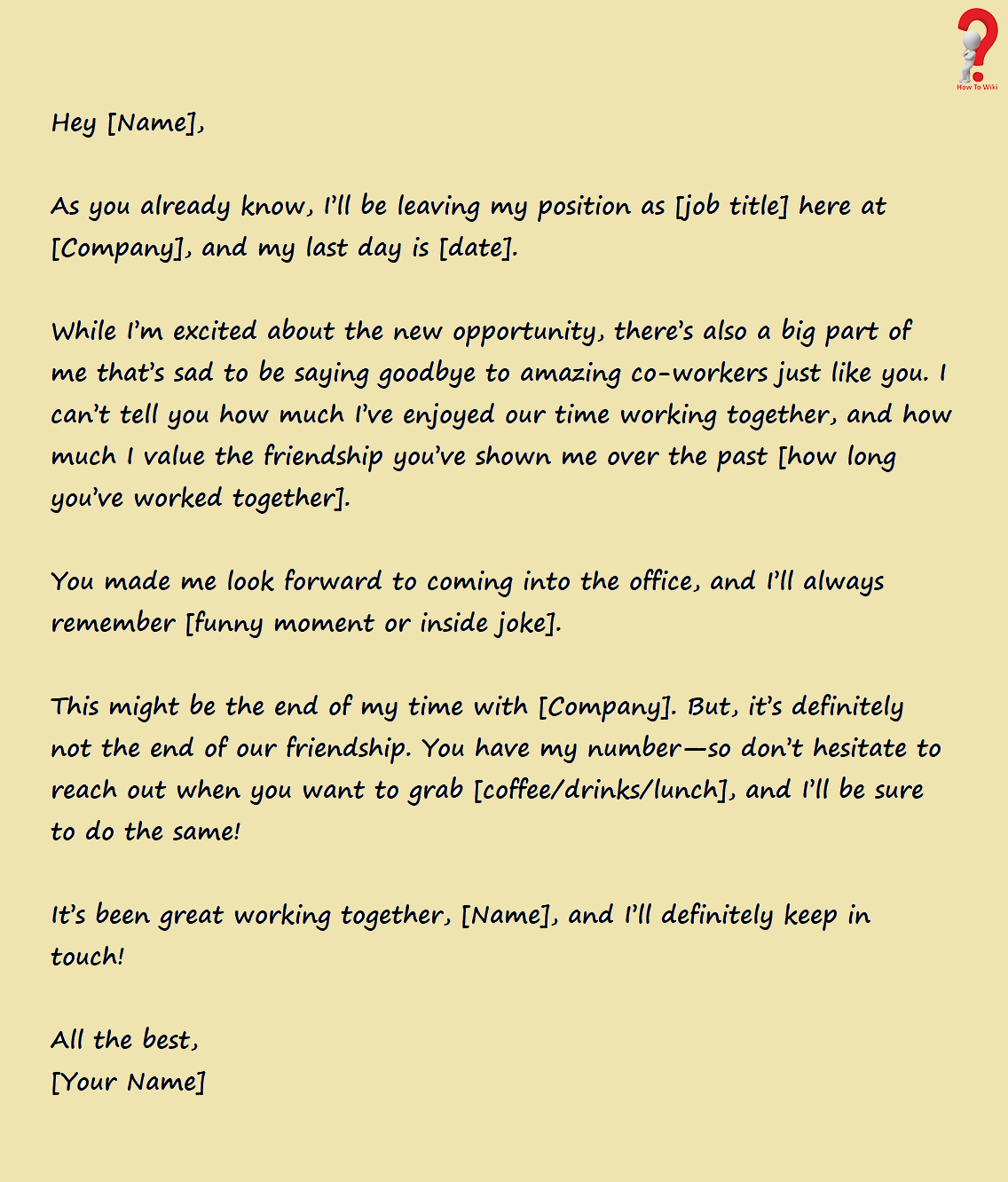 resignation email to coworkers