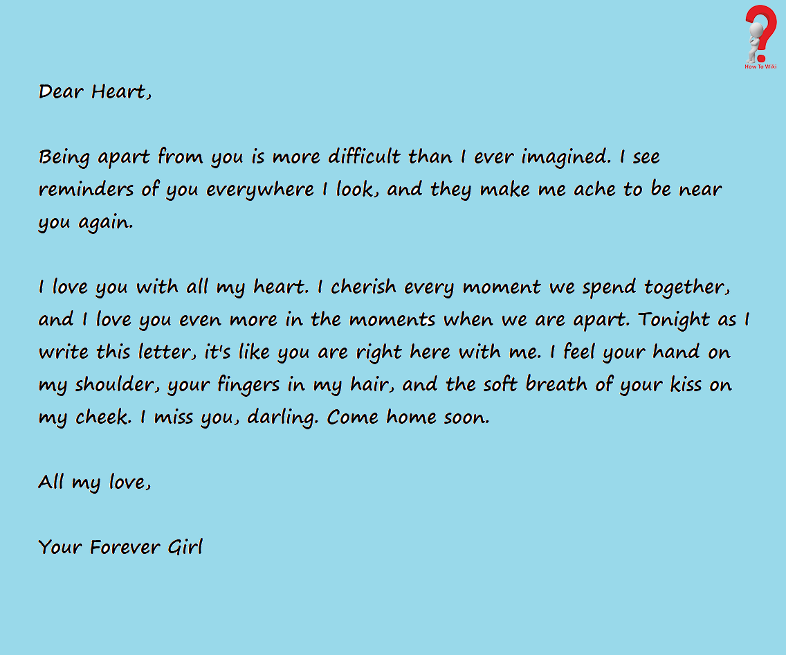 Short Love Letter For Boyfriend