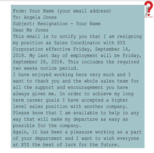 Resignation Email With Notice Period