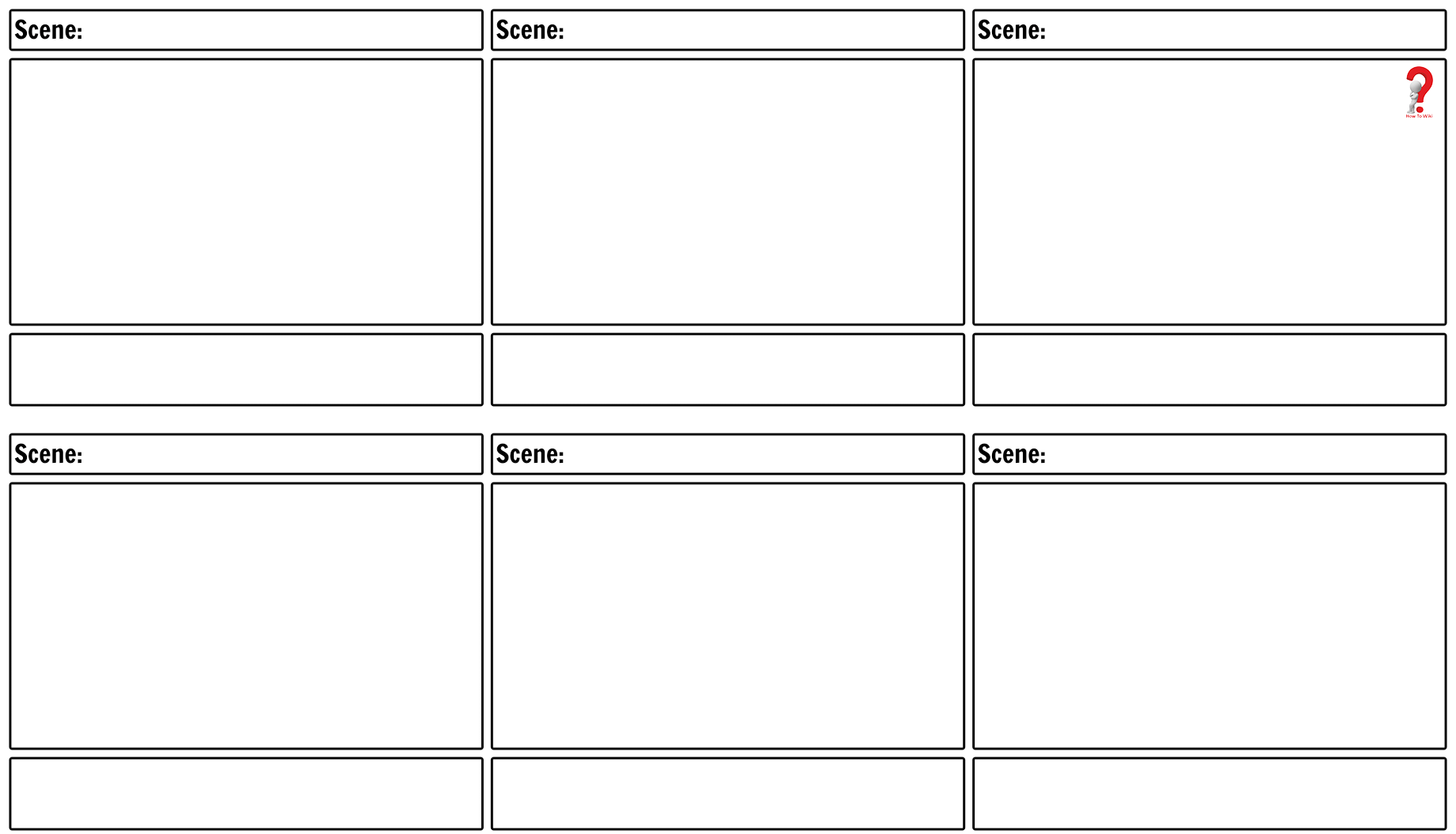 Blank Storyboard Template