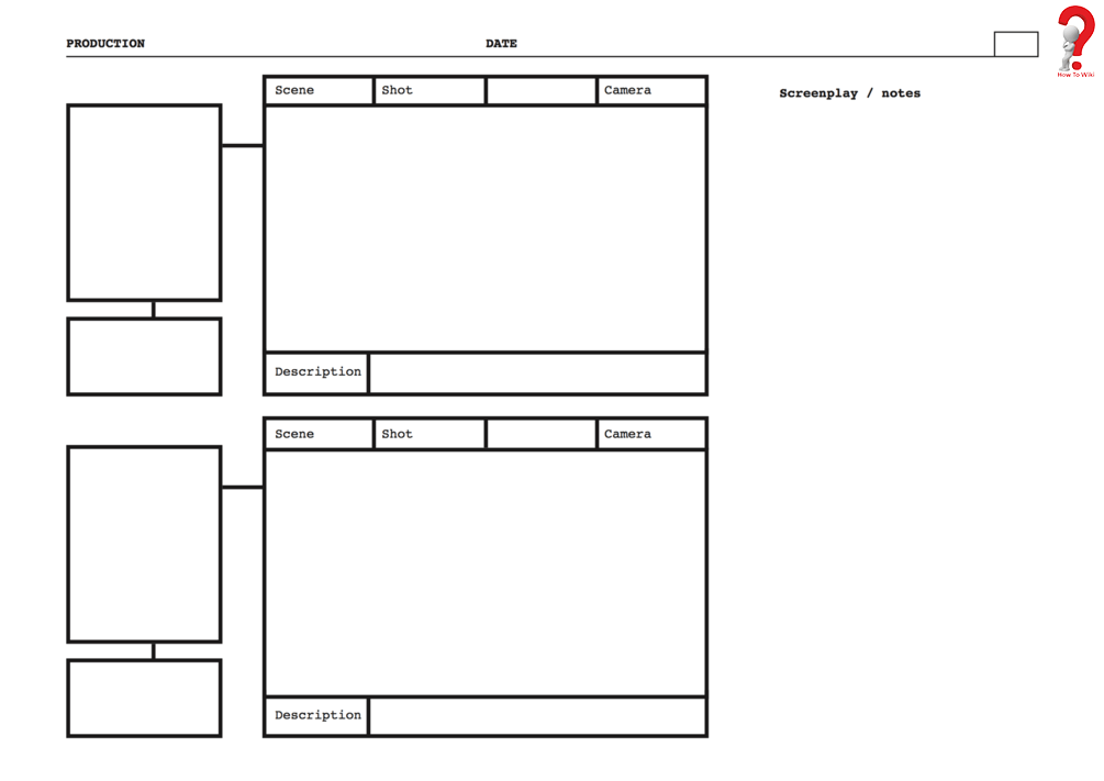 printable storyboard template