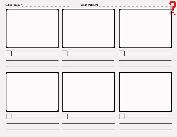Create Photoshop Storyboard Template