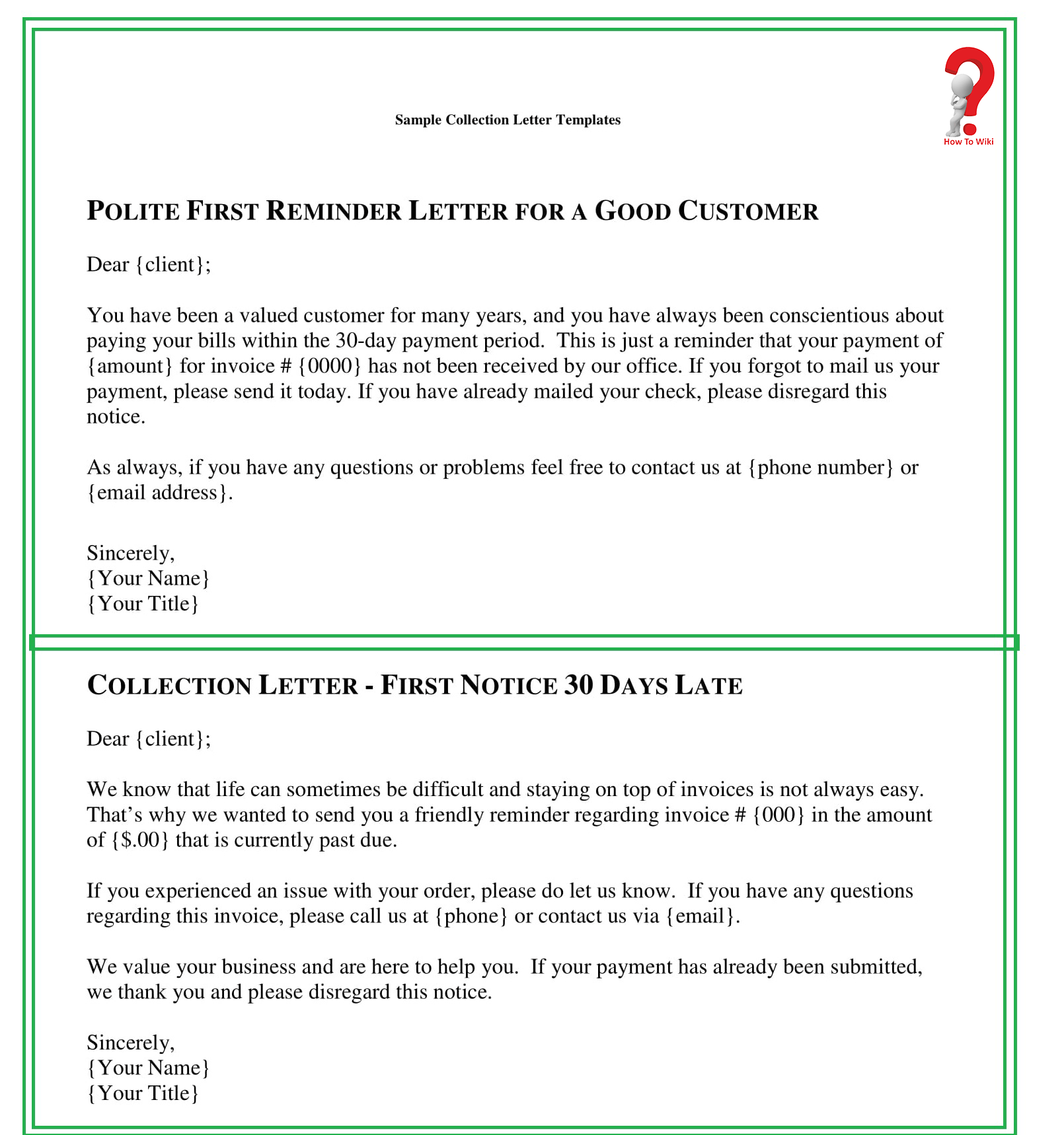 Collection Notice Letter