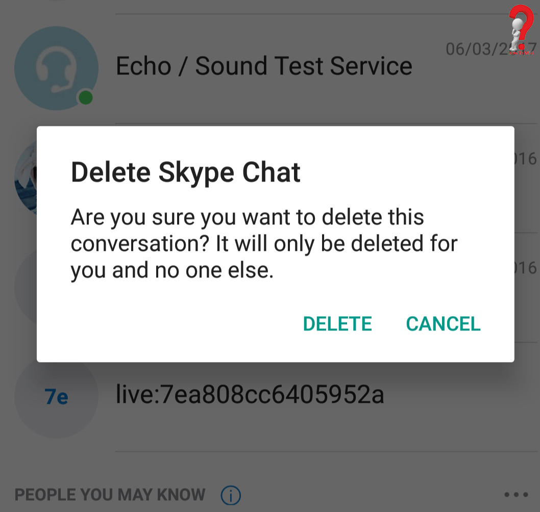 Delete Chat On Skype