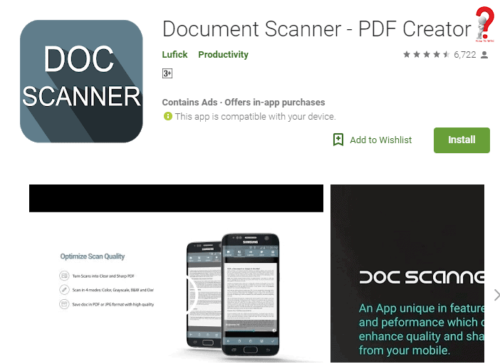 Document PDF in mobile
