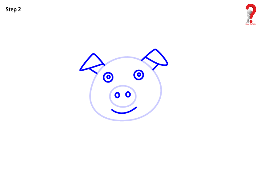 To Draw a Pig For Kids
