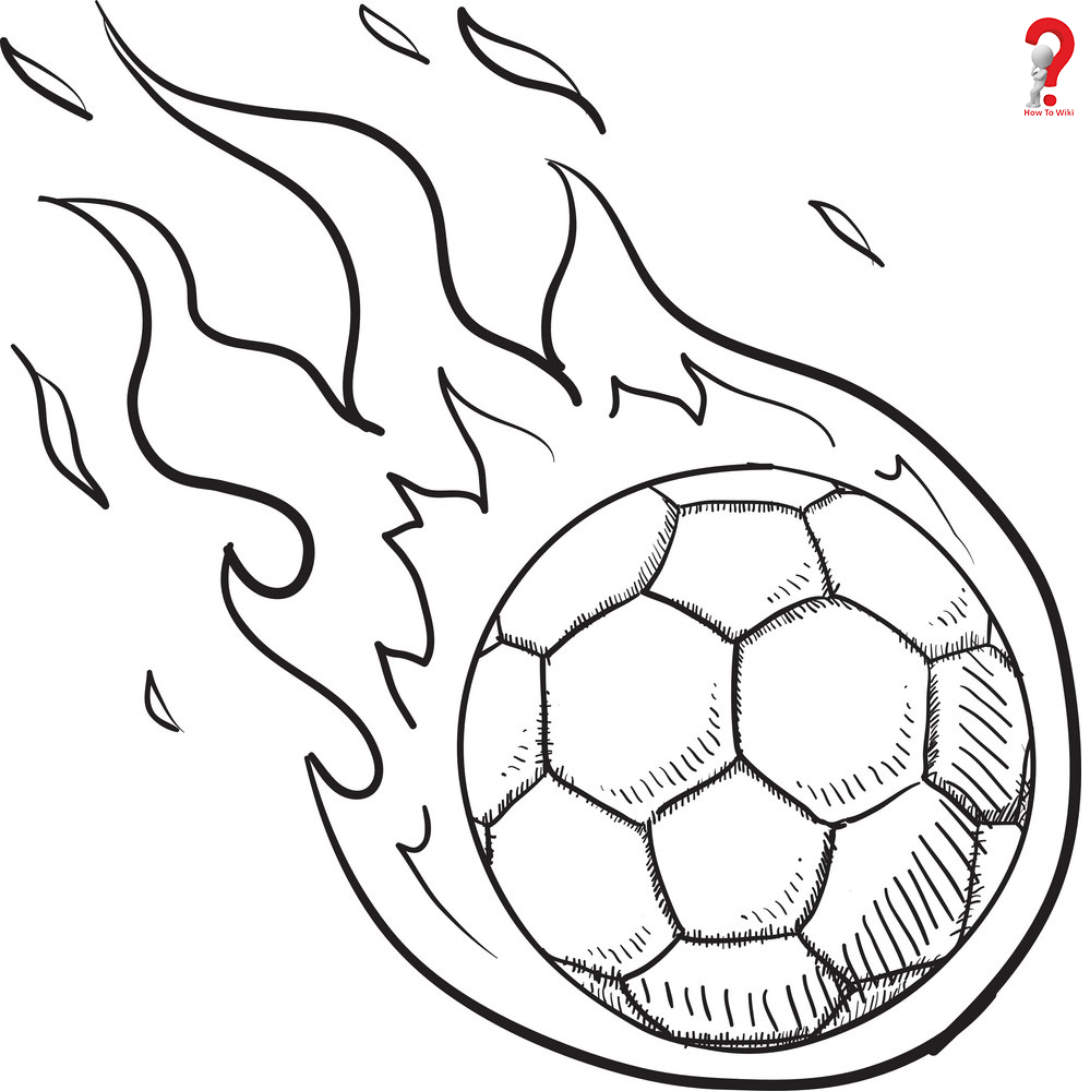 Steps to Draw a Soccer Ball on Fire