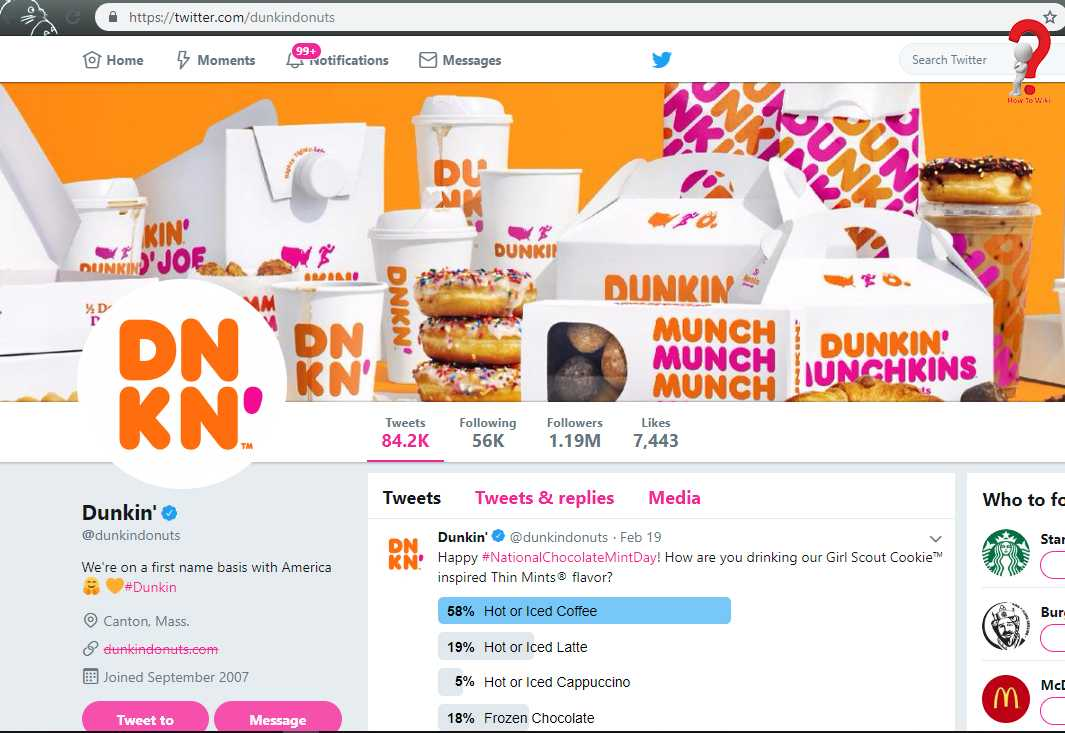 Dunkin Donuts Support