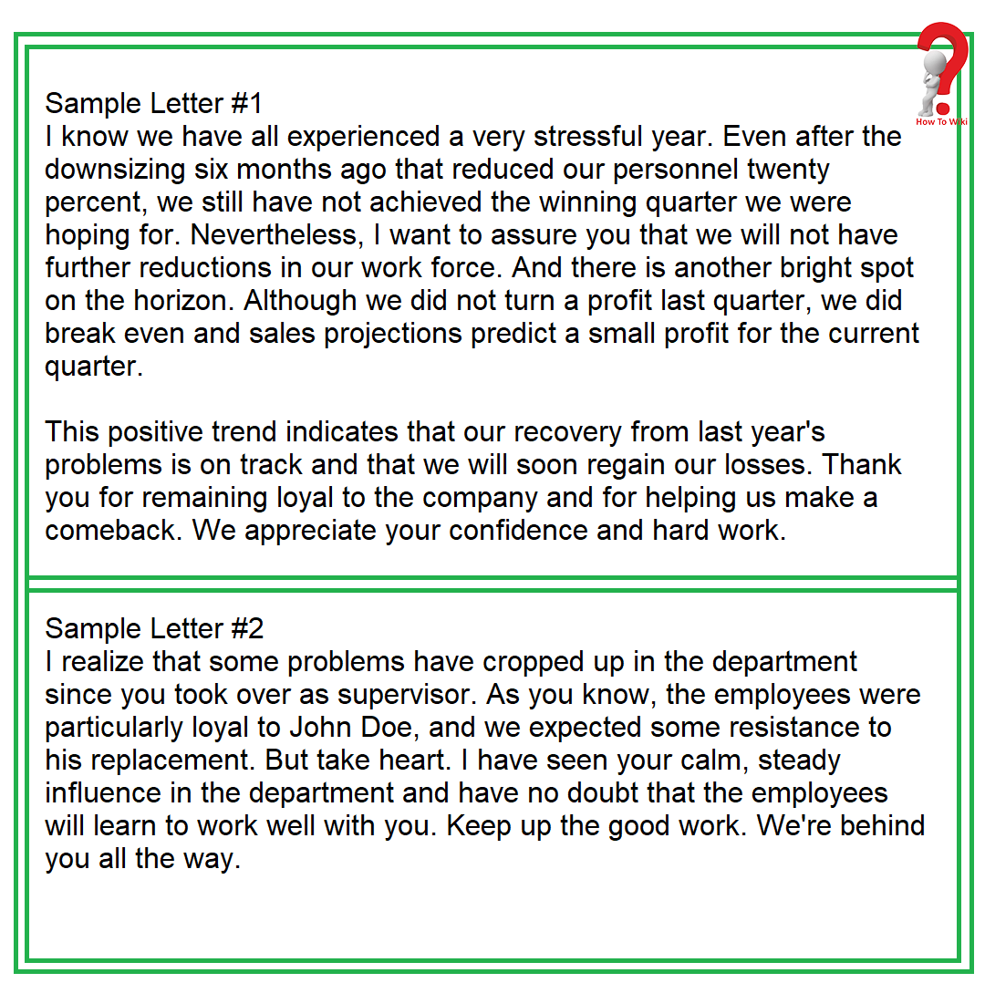 Motivational Letter Template For Employee