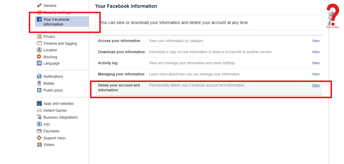 Deactivate Facebook Account Permanently Or Temporarily