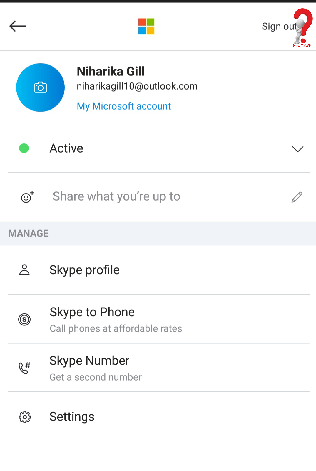 Skype My Account