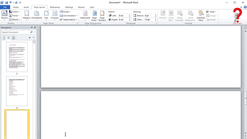 Delete page in Word Mac