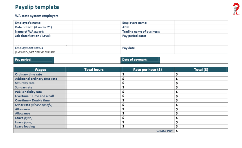 Free Blank Payslip Template