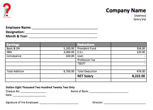how to create a free payslip template in excel  pdf  word