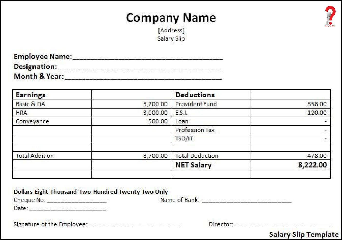 how to make salary slip format in pdf  excel  word