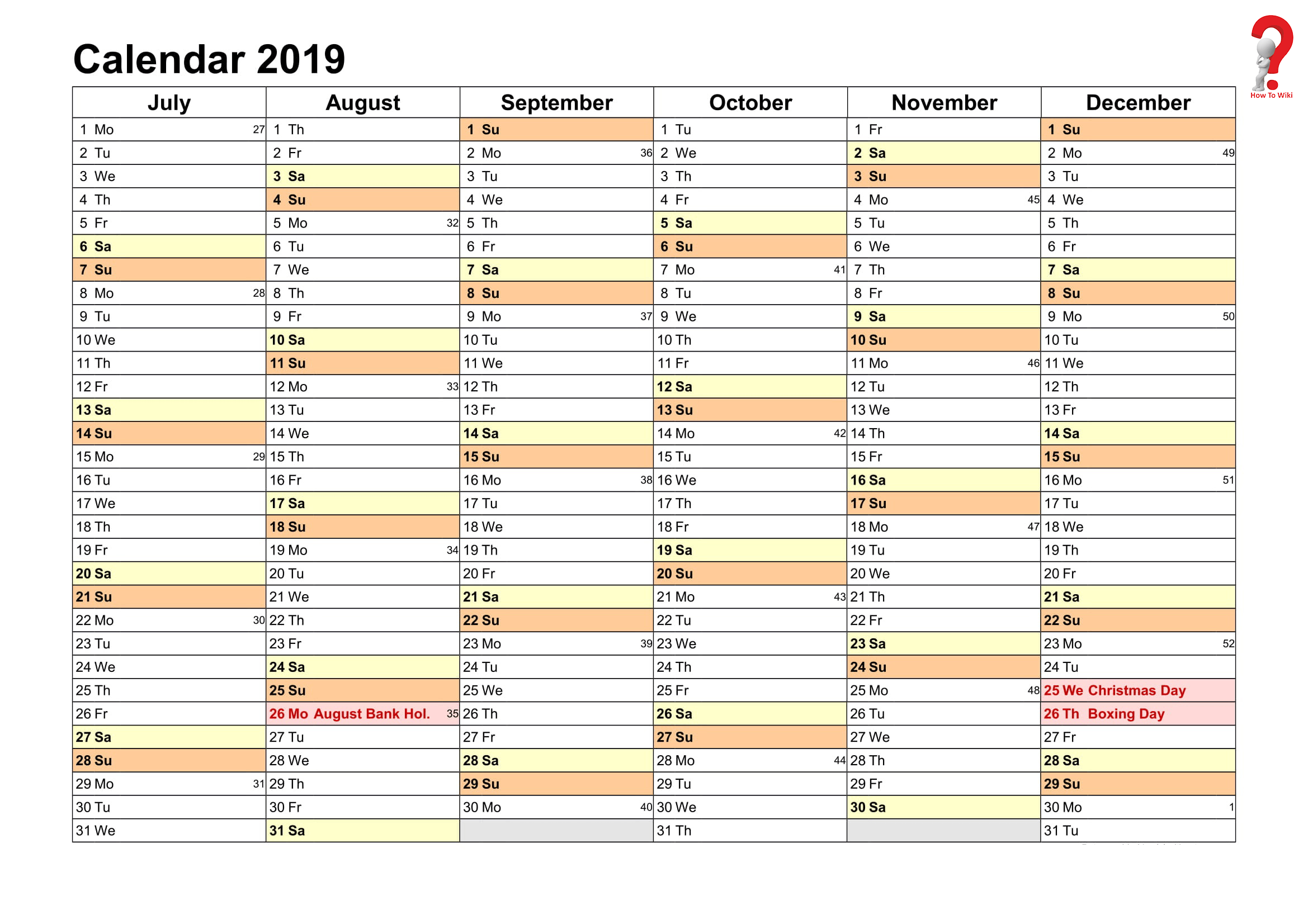 2019 Yearly Planner