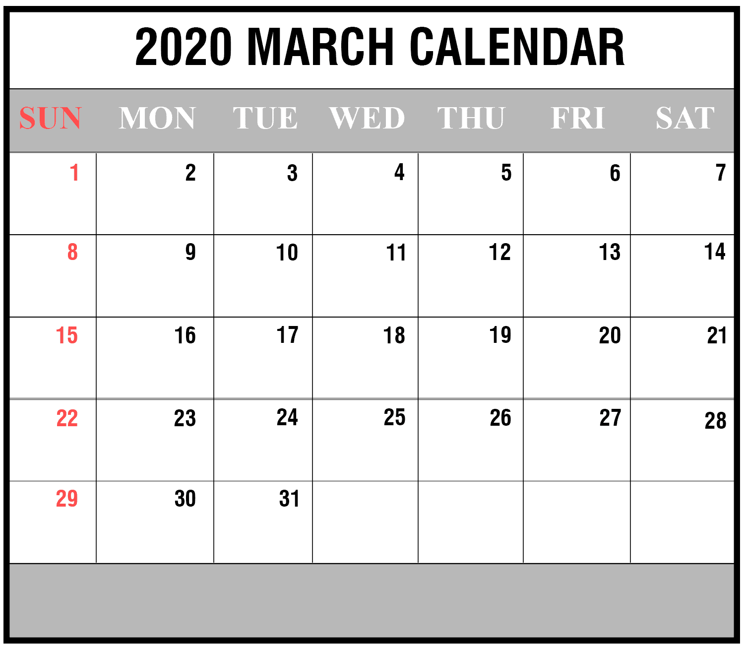 Print Friendly April 2020 Canada Calendar For Printing: How To Schedule Your Month With March 2020 Printable