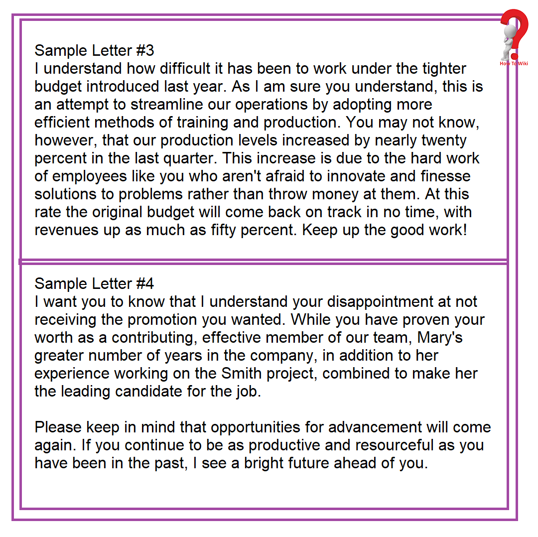 Motivational letters to Employee