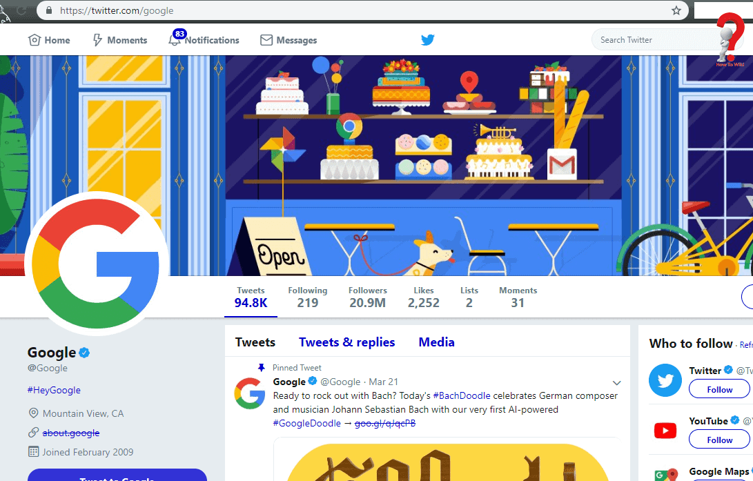 Google-Twitter-Page