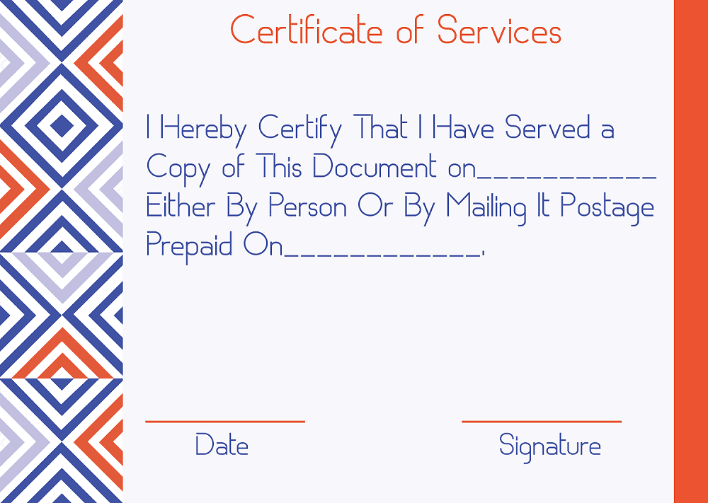 What is Certificate of Service