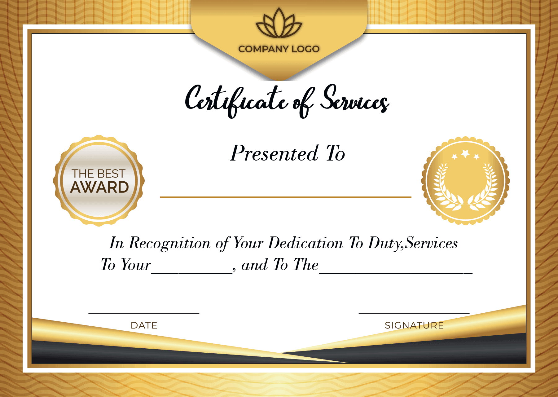 Certificate of Service Printable