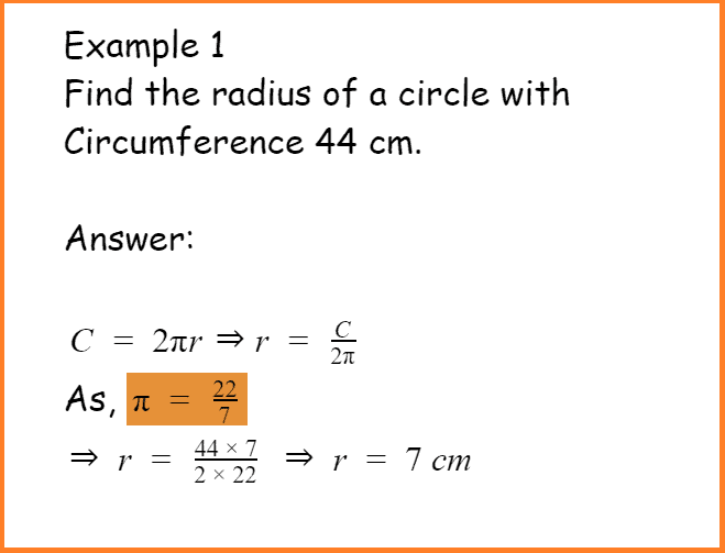 find radius of circle