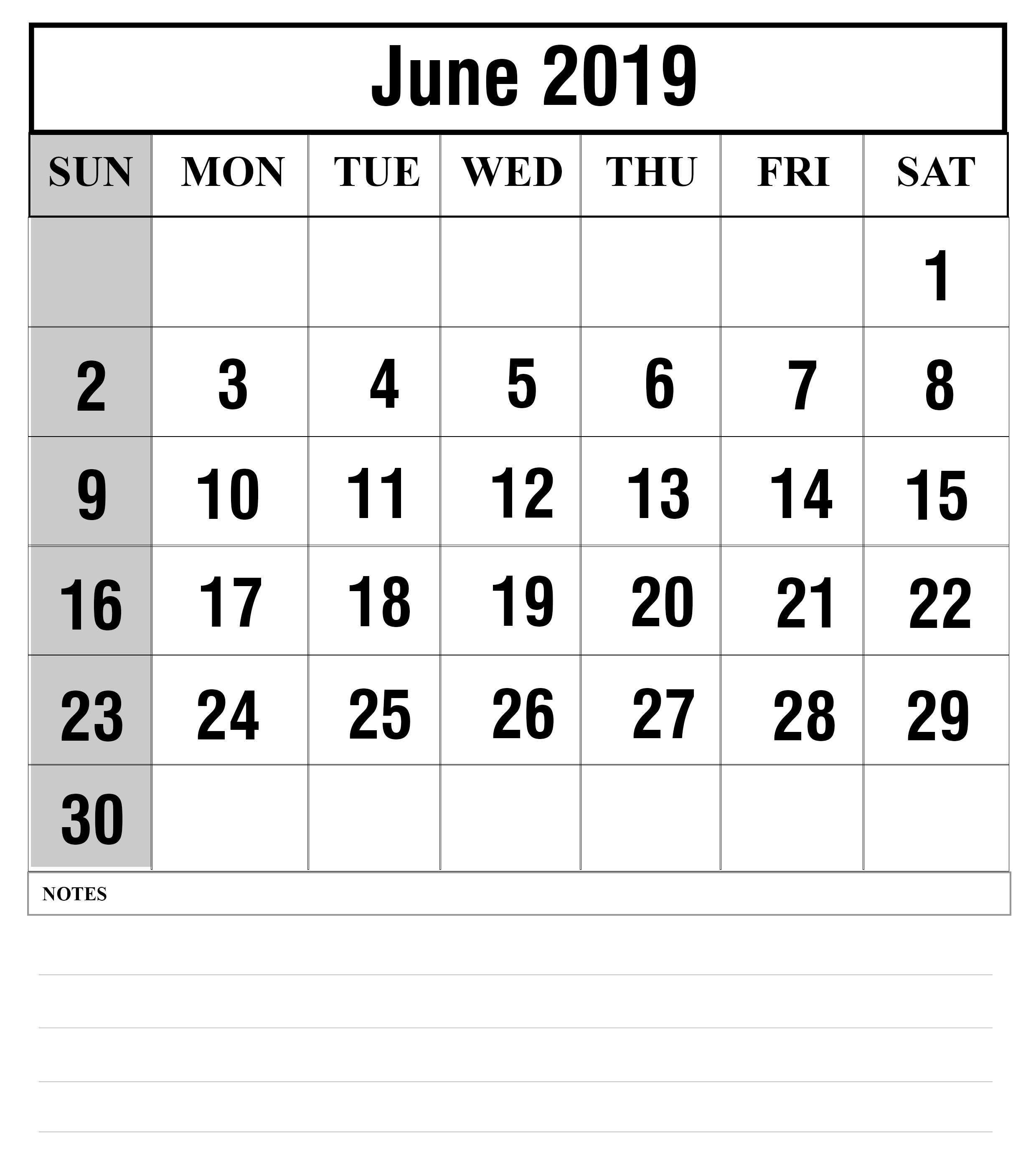 How To Schedule Your Month With June 2019 Printable Calendar How
