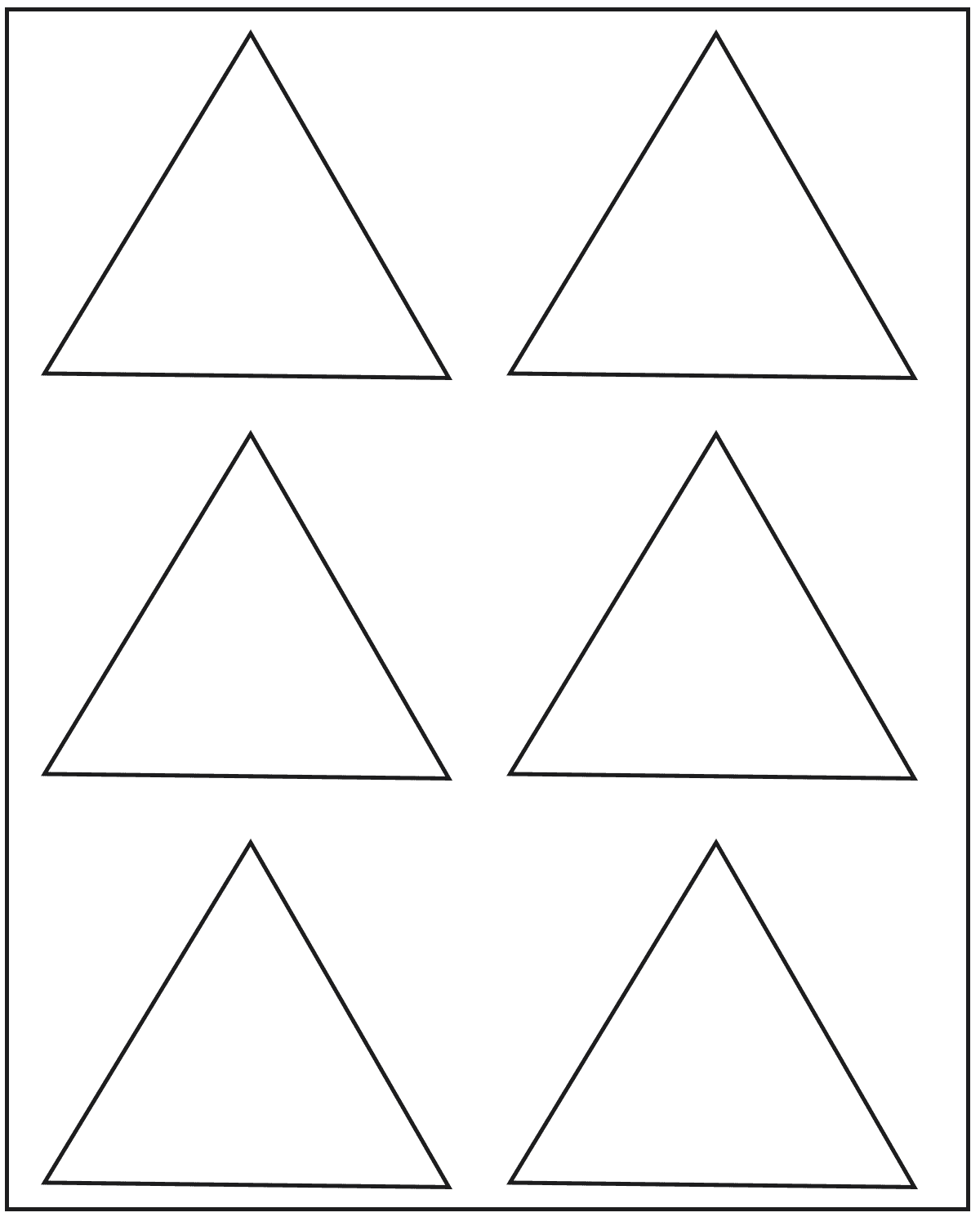 Blank Triangle Templates