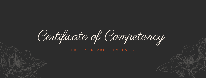 Government Certificate of Competency Templates & Samples