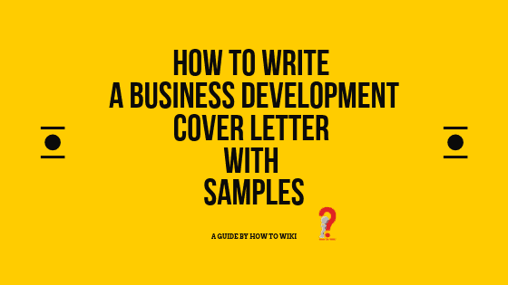 Business Development Cover Letter Examples