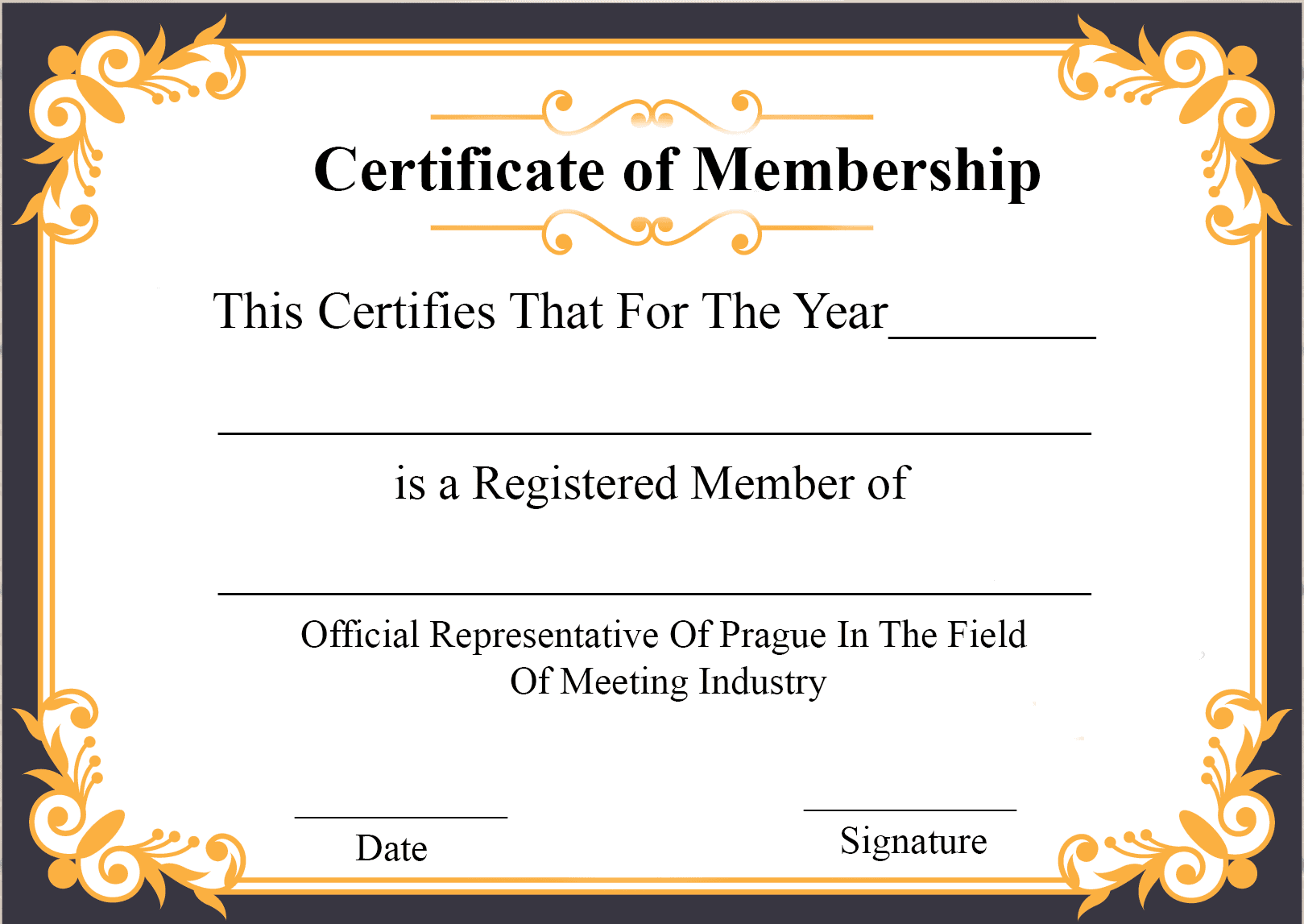 Printable Certificate Of Membership