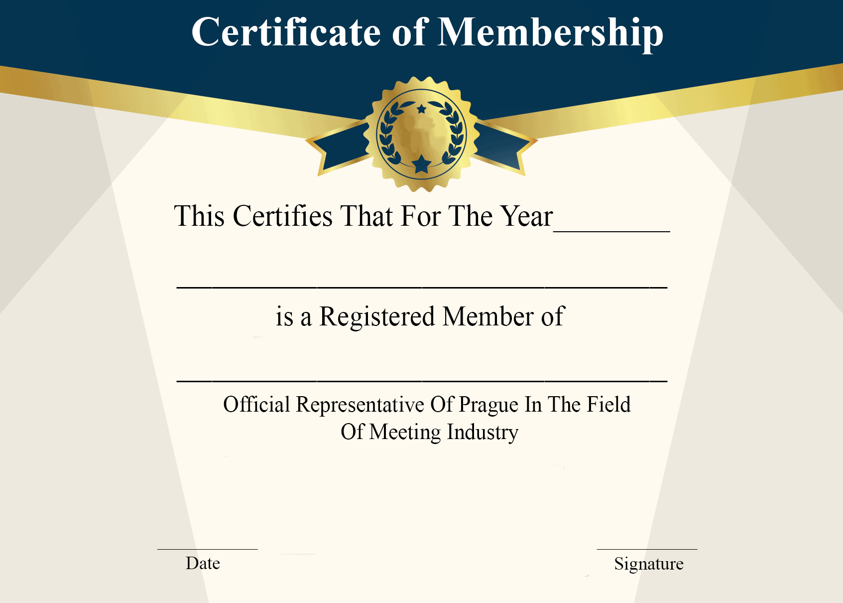 Certificate of Membership Download