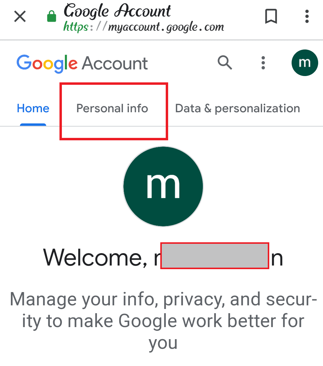 Change Google Username On Android Phone