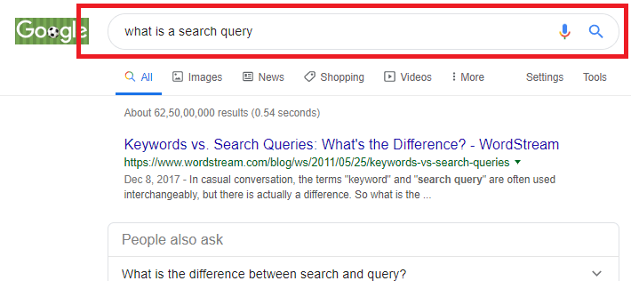 What Is A Search query
