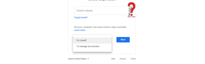 how to create a new google account